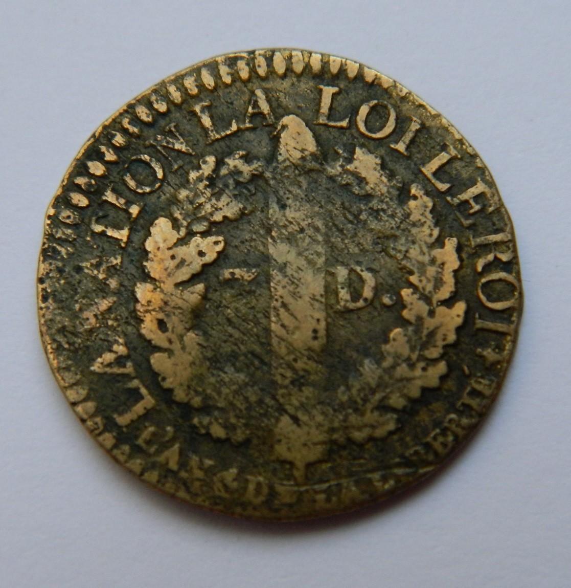 MRV001 3 DENIERS francais LOUIS XVI 1792 I