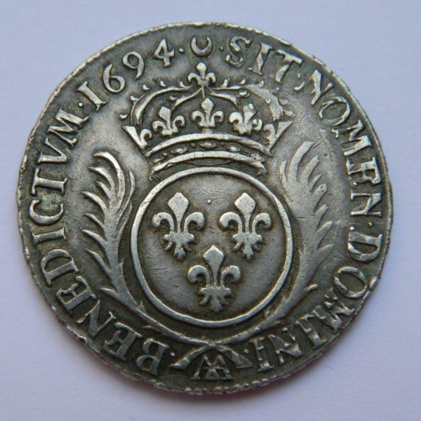 RY027 12 ECU aux PALMES LOUIS XIV 1694 AA