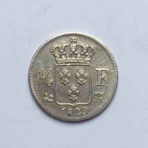 1/4 de franc 1829K