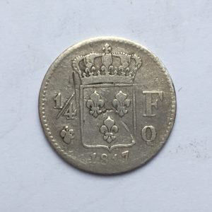 1/4 de franc 1817Q