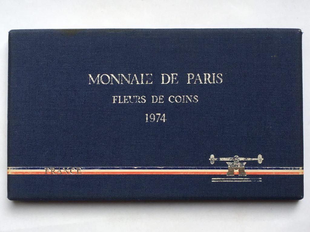 avec 50 Francs ARGENT 9 Pieces France 1974 Coffret Fleur de Coin